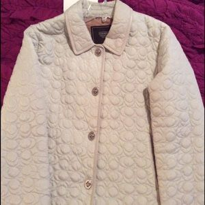 Coach tan signature turn lock jacket coat Large